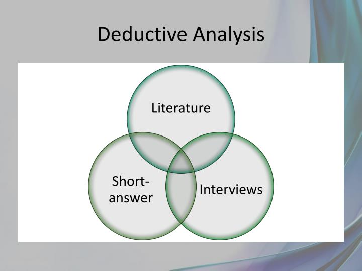 Deductive Analysis