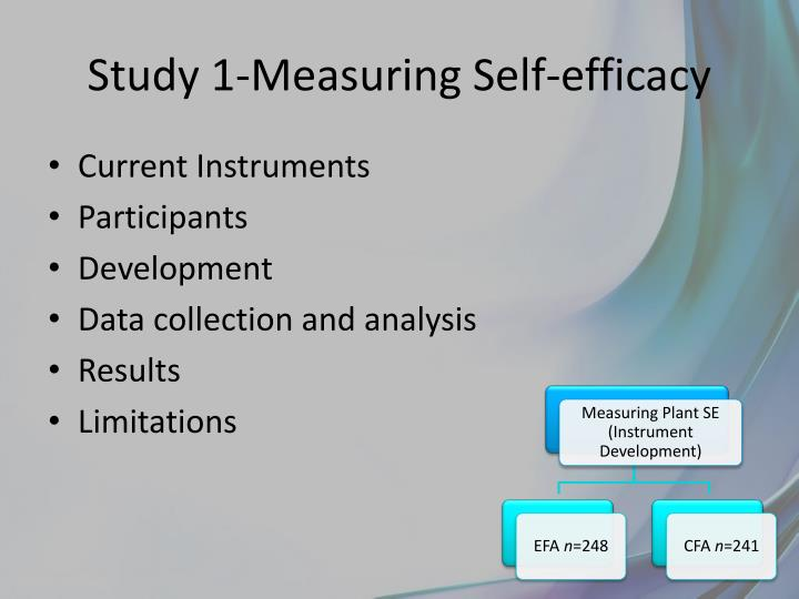 Study 1-Measuring Self-efficacy