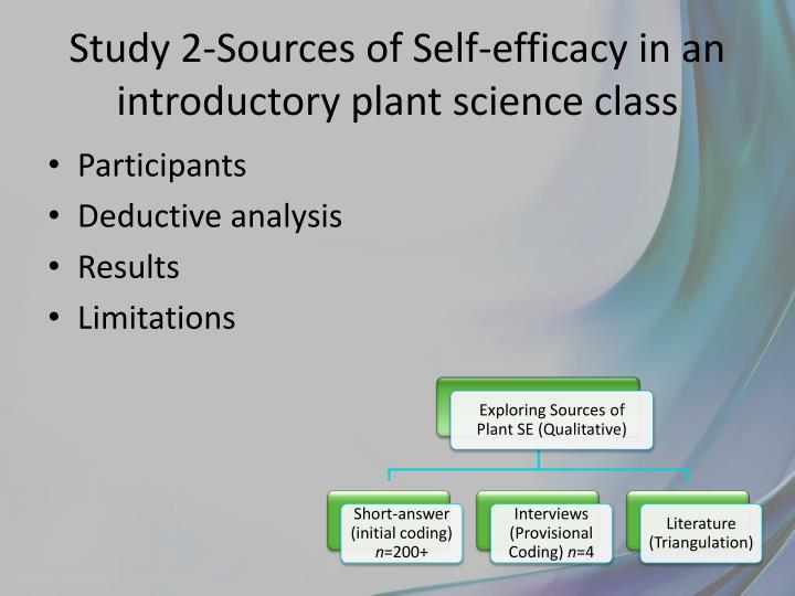 Study 2-Sources of Self-efficacy in an introductory plant science class