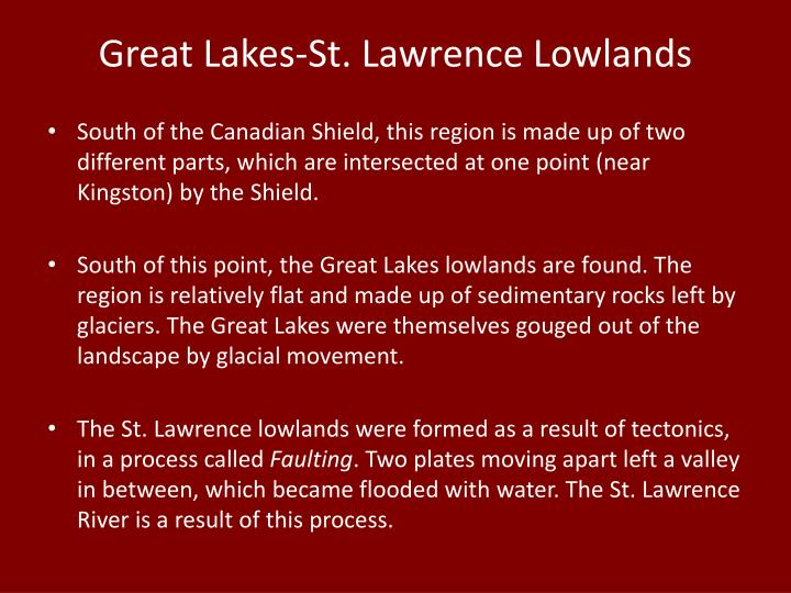 Great Lakes-St. Lawrence Lowlands