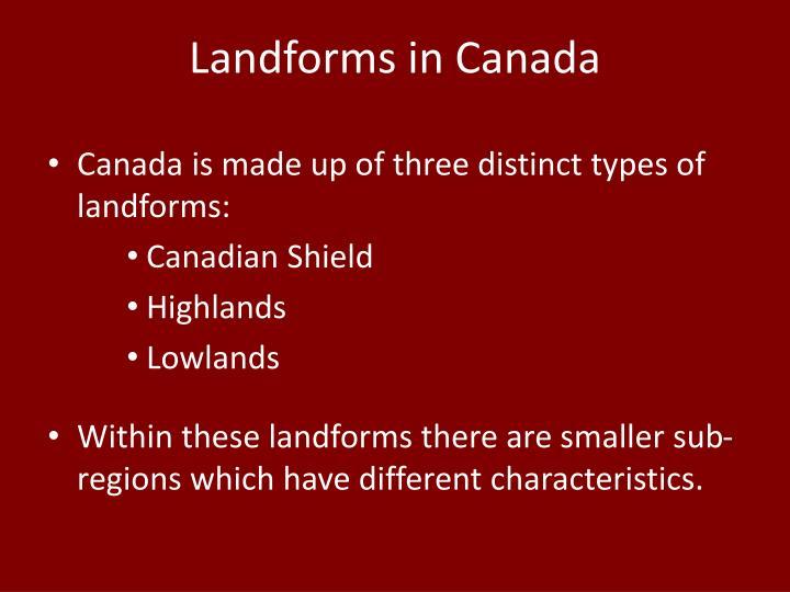 Landforms in Canada
