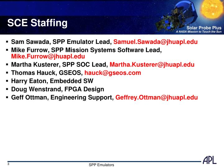 Sce staffing
