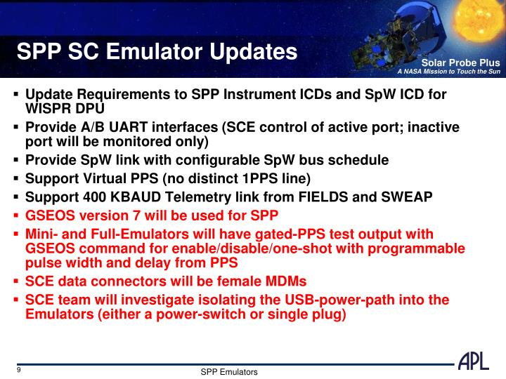 SPP SC Emulator Updates