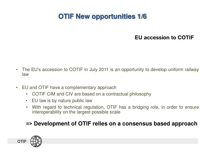 OTIF New opportunities 1/6