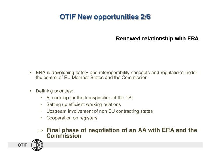 OTIF New opportunities 2/6