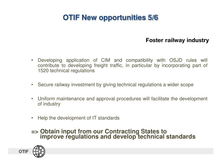 OTIF New opportunities 5/6