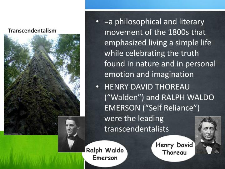 transcendentalism and anit transcendentalim They were marxism and transcendentalism philosophical, anti-religious approach thus the world became divided between the ethereal and the real.