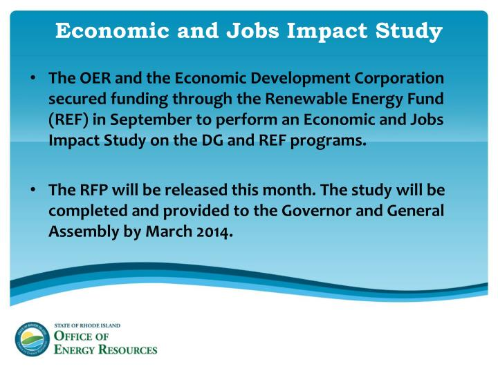 Economic and Jobs Impact Study