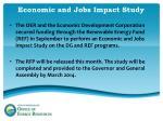 economic and jobs impact study