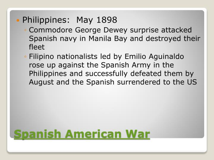 Philippines:  May 1898