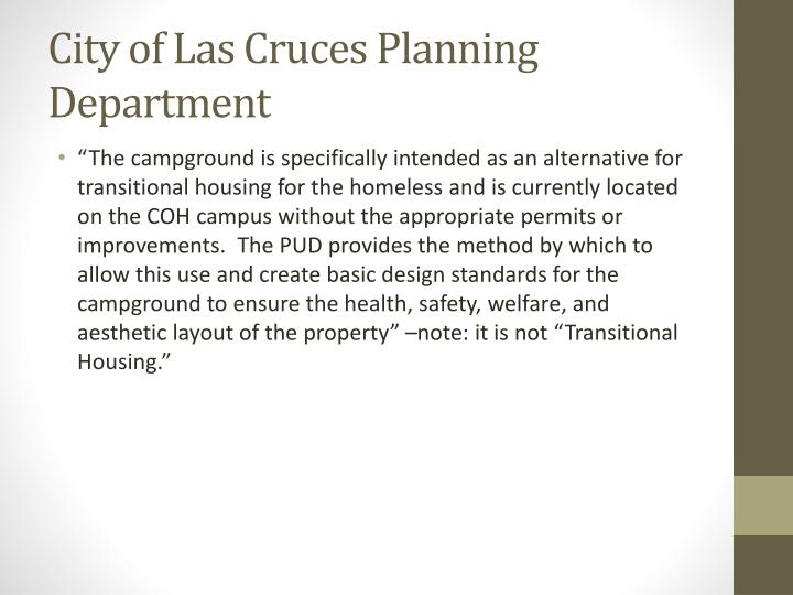 City of Las Cruces Planning Department