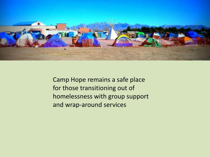 Camp Hope remains