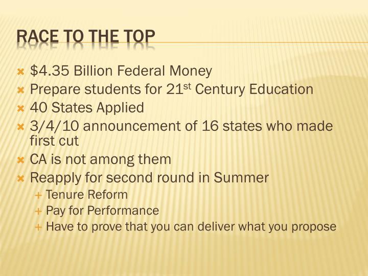 $4.35 Billion Federal Money