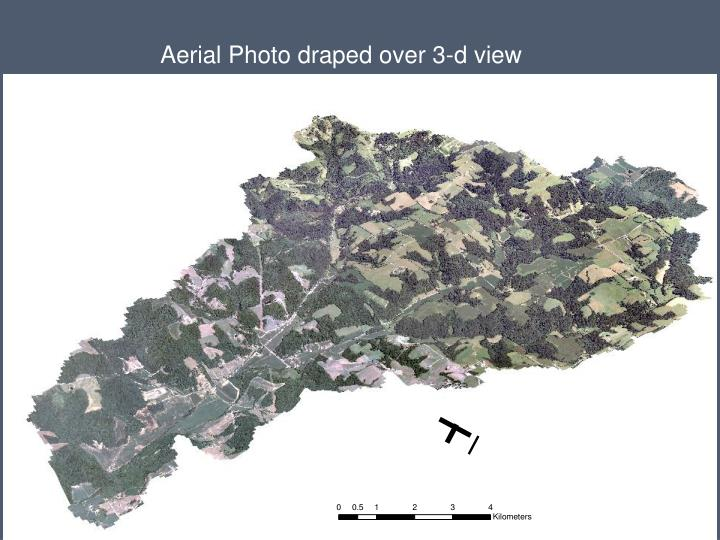 Aerial Photo draped over 3-d view