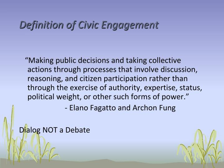 Definition of Civic Engagement