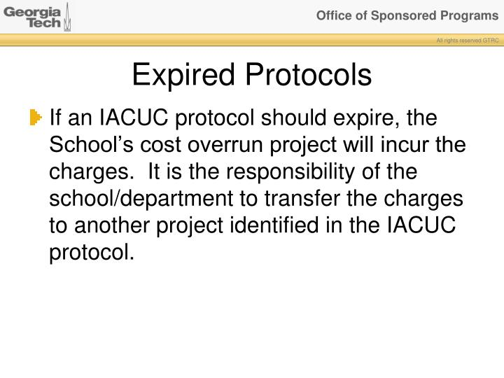 Expired Protocols
