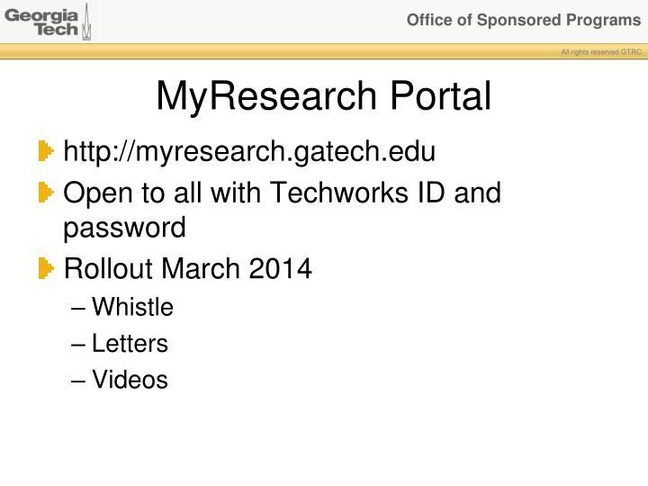 MyResearch Portal
