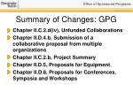 summary of changes gpg1