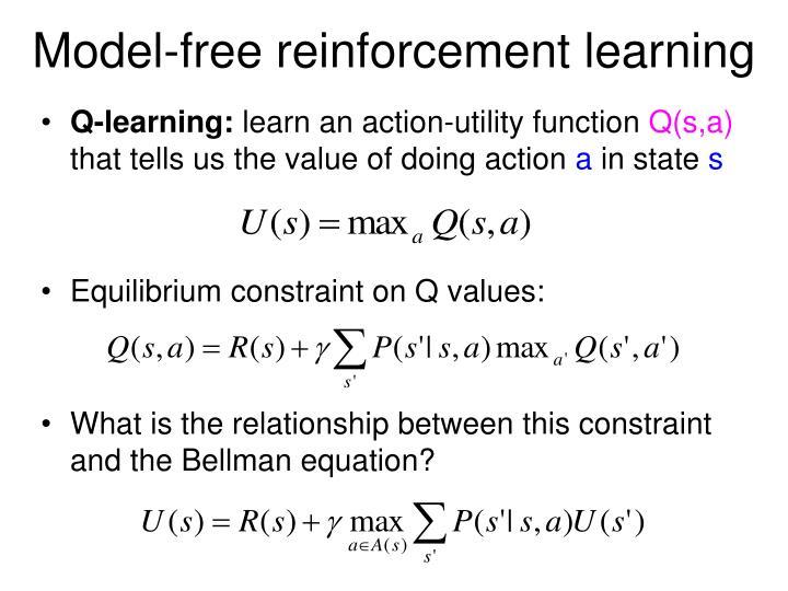 Model-free reinforcement learning