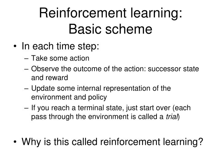 Reinforcement learning: