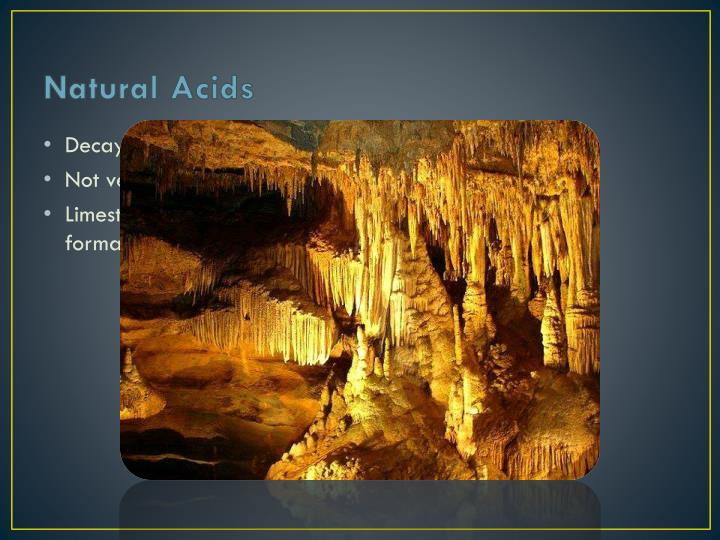Natural Acids
