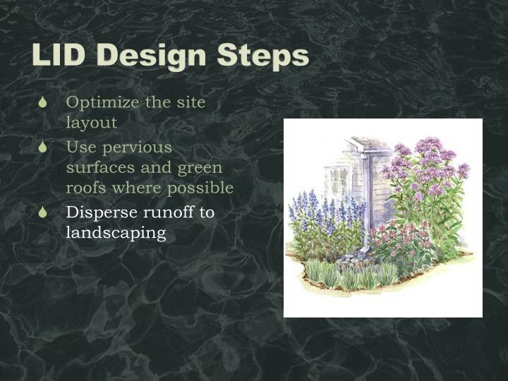LID Design Steps