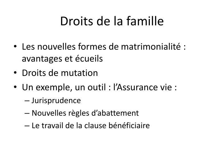 Droits de la famille