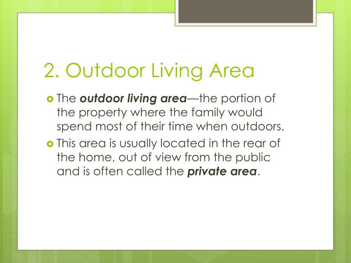 2. Outdoor Living Area