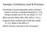 example confidence level precision