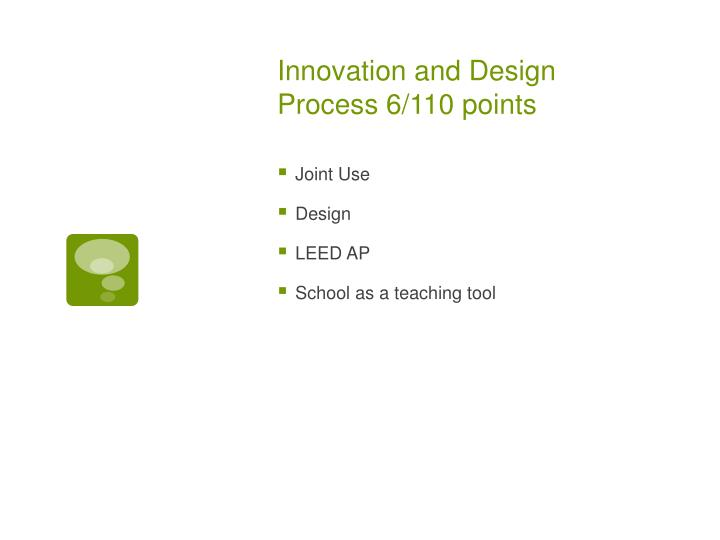 Innovation and Design Process 6/110 points