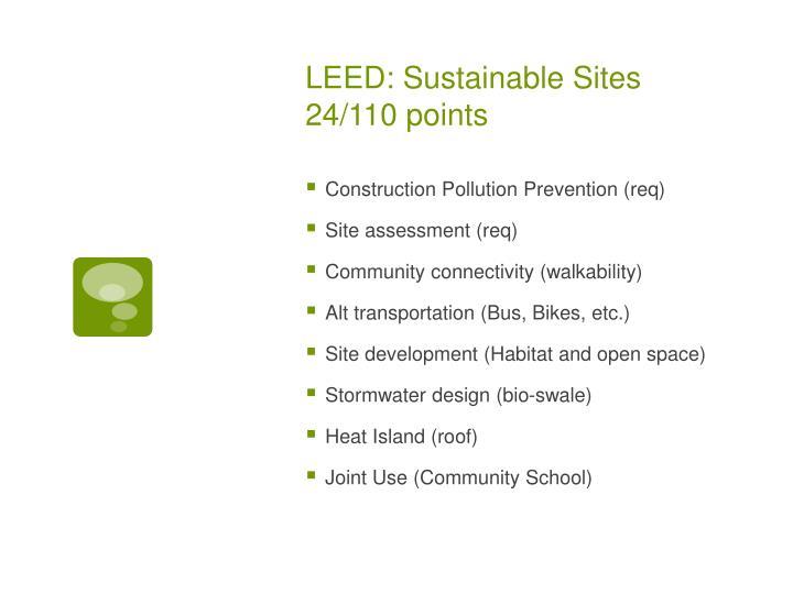 LEED: Sustainable Sites