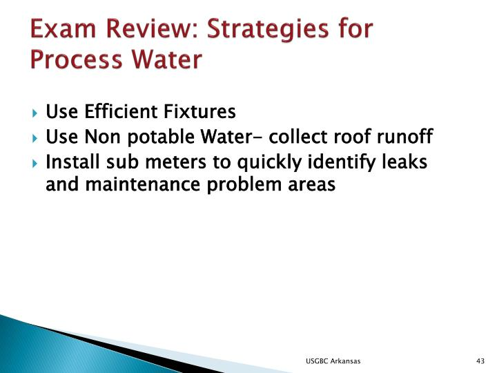 Exam Review: Strategies for