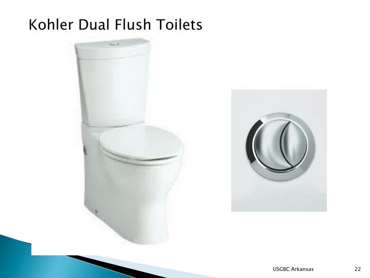Kohler Dual Flush Toilets