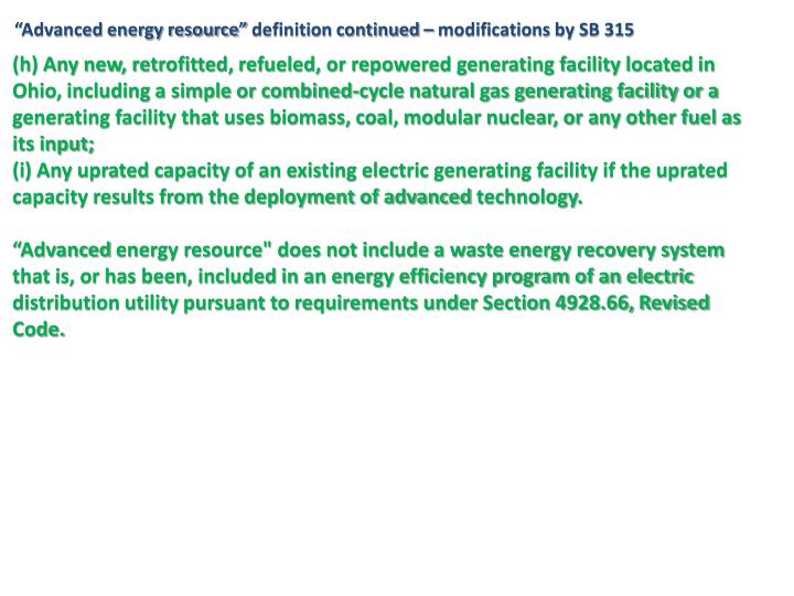 """Advanced energy resource"""