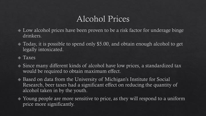 Alcohol Prices