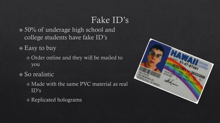 Fake ID's