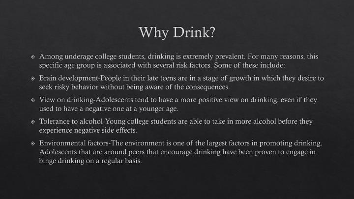 Why Drink?