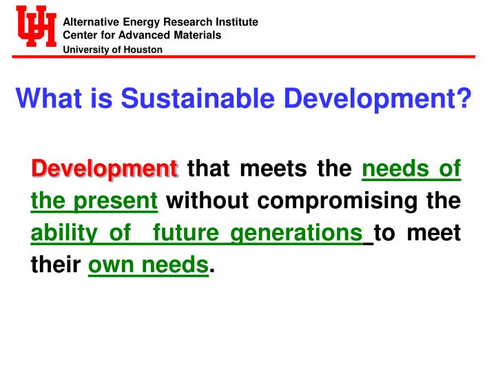 What is Sustainable Development?