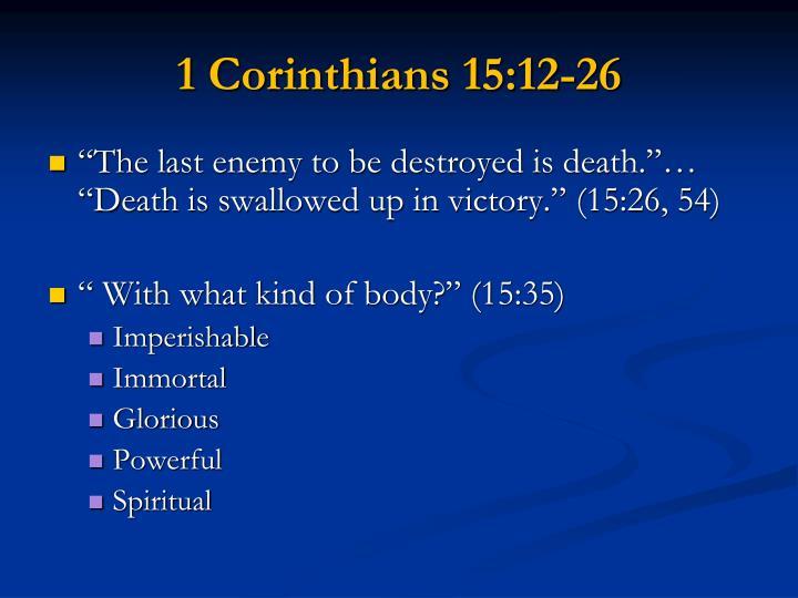 1 Corinthians 15:12-26