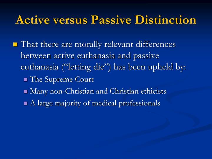 Active versus Passive Distinction