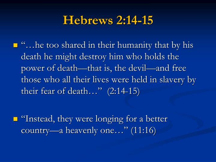Hebrews 2:14-15