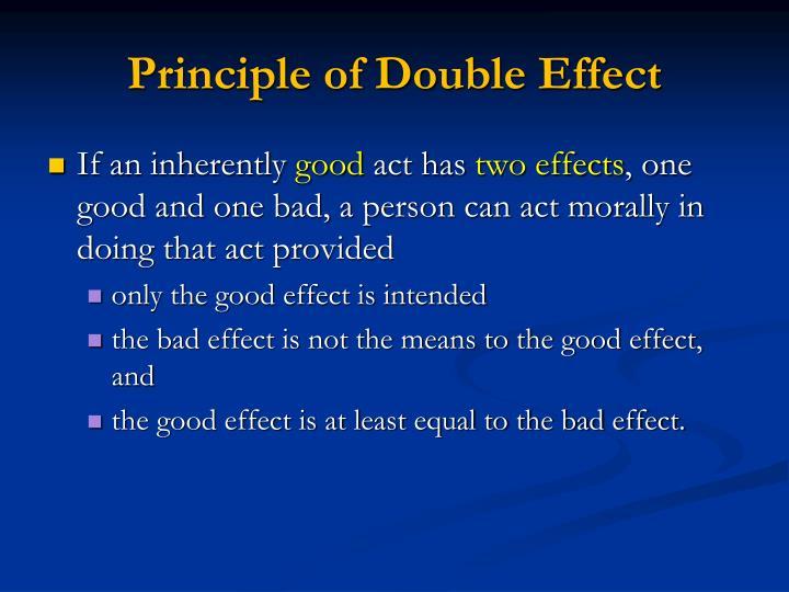 Principle of Double Effect