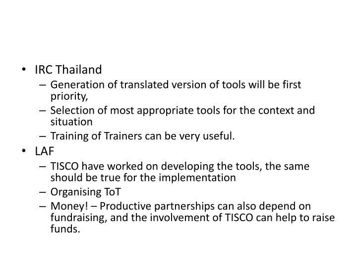 IRC Thailand