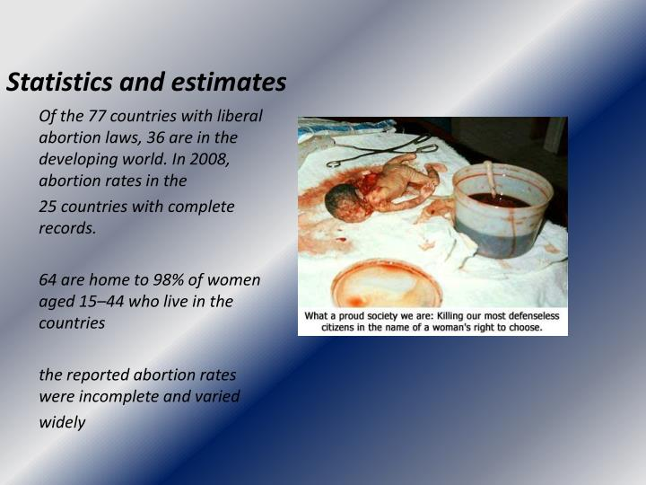 Statistics and estimates