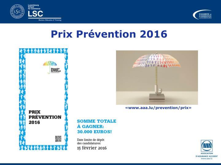 Prix Prévention