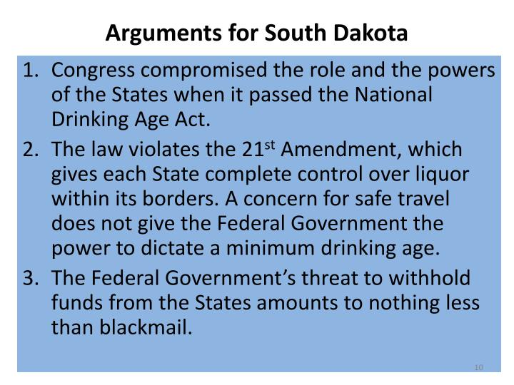 Arguments for South Dakota