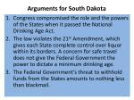 arguments for south dakota