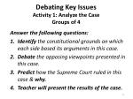 debating key issues activity 1 analyze the case groups of 4