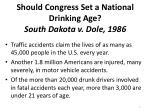 should congress set a national drinking age south dakota v dole 1986