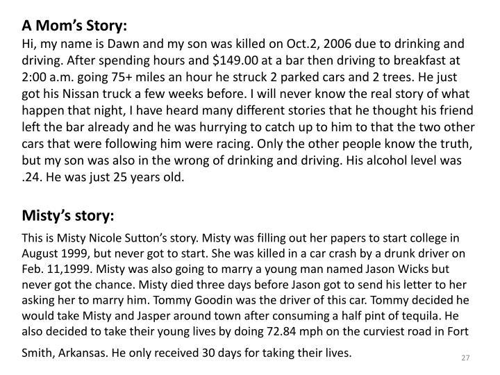 A Mom's Story: